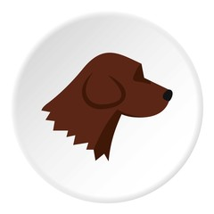 Beagle dog icon. Flat illustration of beagle dog vector icon for web
