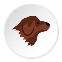 Retriever dog icon. Flat illustration of retriever dog vector icon for web