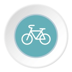Sign bike icon. Flat illustration of sign bike vector icon for web