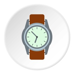 Wrist watch icon. Flat illustration of wrist watch vector icon for web