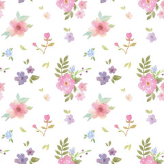 Mixed flower pattern