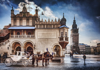 Autocollant pour porte Cracovie Cracow /Krakow carriage , in Poland , Europe