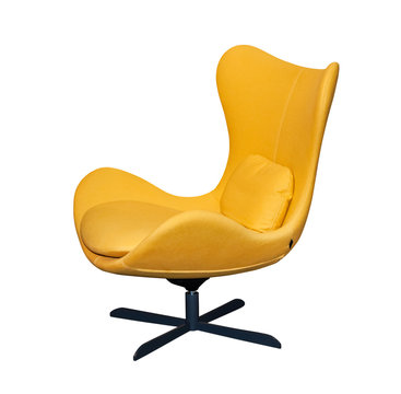 Spinning yellow office chair
