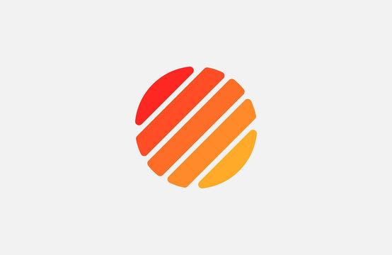 Sun logo design. Creative sun symbol. Line sun logo