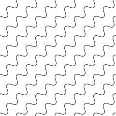 Wavy, zigzag parallel lines repeatable pattern