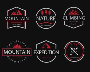 mountain retro badge illustration