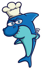 Shark Chef with Cooking Spatula