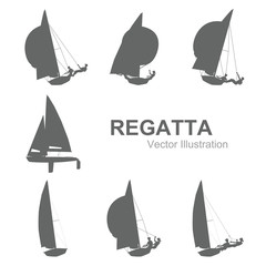Sailboat vector illustration