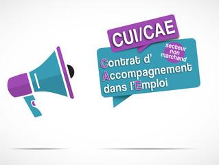 mégaphone : cui / cae