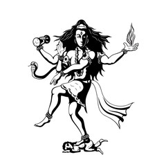 dancing God Shiva
