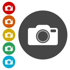 Vector camera icon on white background. Eps 10