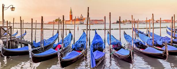 Poster Gondolas Venise (grand canal)