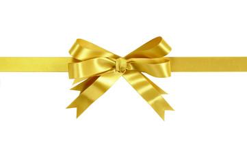Gold bow gift ribbon
