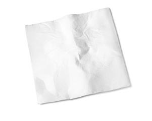 Paper Napkin on white