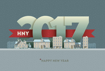 2017 Happy New Year in town