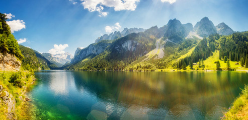 Wall Mural - beautiful alpine lake