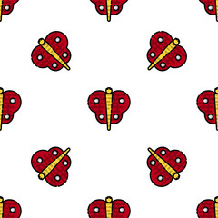 Insects flat icons pattern