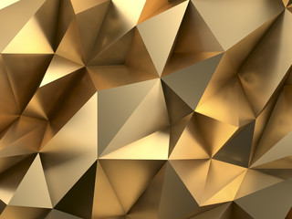 Rich Gold Abstract Background 3D Rendering