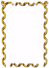 Golden Ribbon Border