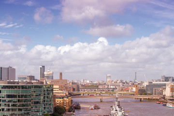 Foto op Plexiglas Panoramafoto s Beautiful sky on London