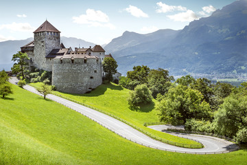 Printed kitchen splashbacks Castle Medieval castle in Vaduz, Liechtenstein