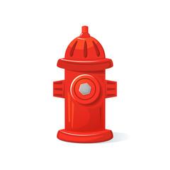 Icon fire hydrant, vector illustration