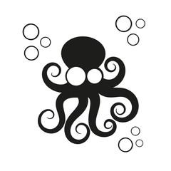 Logo octopus vector illustration