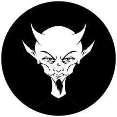 Devil Circle Monochromatic Version 2