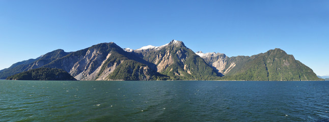 Beauty of Chilean fjords: Aysen fjord, Channel Moraleda region, Patagonia, Chile, South America.