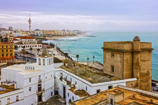 Cadiz town panoramic view, Spain