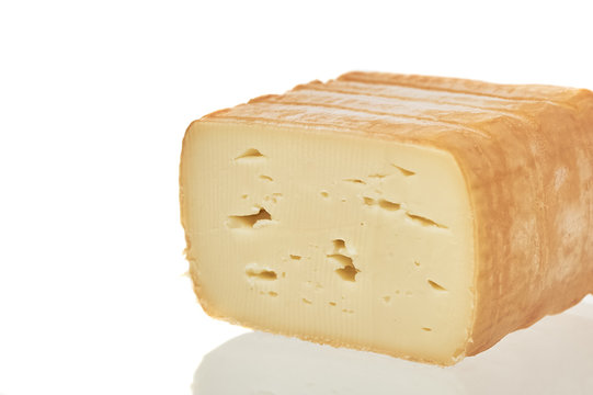 Cheese Isolated Over White
