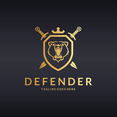 Defender logo. Bear logotype