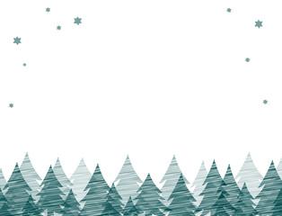 Hintergrund Tannenbäume und Sterne