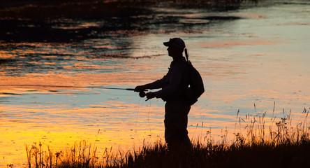 Tuinposter Vissen Fishing