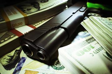 Guns and Money Close Up