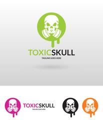 Toxic logo template. Skull logo.