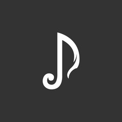 Music Icon. Vector logo element for template