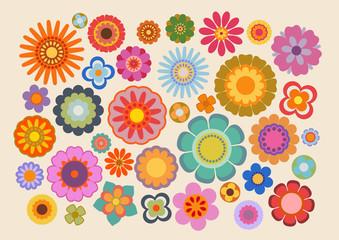 Fleurs des années soixante-dix (part 4) Wall mural