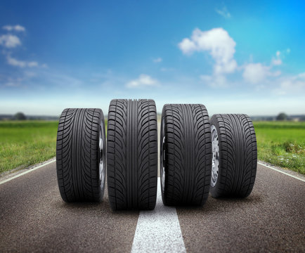 Reifen / landschaft
