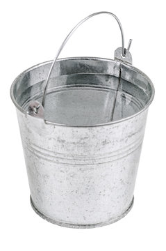 metal bucket with water