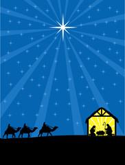 Christmas Christian nativity scene