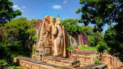 Aluminium Prints Historic monument Colossal Statue of Avukana Buddha image, Sri Lanka