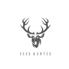 deer head vector design template,hunting illustration