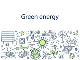 Green energy banner vector illustration