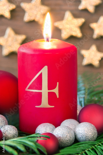 Vierter advent dekoration mit kerze stock photo and royalty free images on pic - Dekoration advent ...
