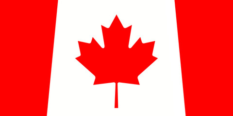 Canada: Canadian Maple Leaf Flag, 3d illustration