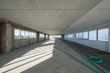Interno di fabbrica di nuova costruzione