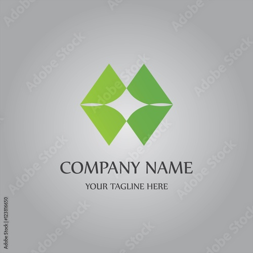 """ green rectangular abstract logo"" Stock image and royalty ..."