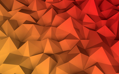 Abstract low poly geometric (polygonal triangular) background. 3d illustration