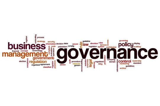 Governance word cloud